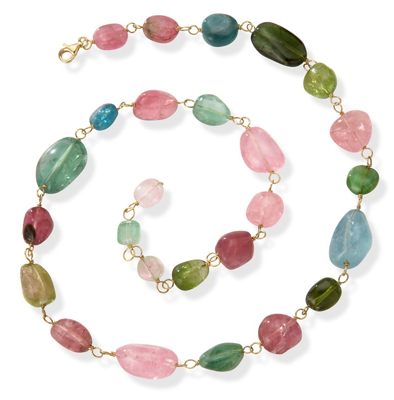 14kt Multi Colored Tourmaline Necklace